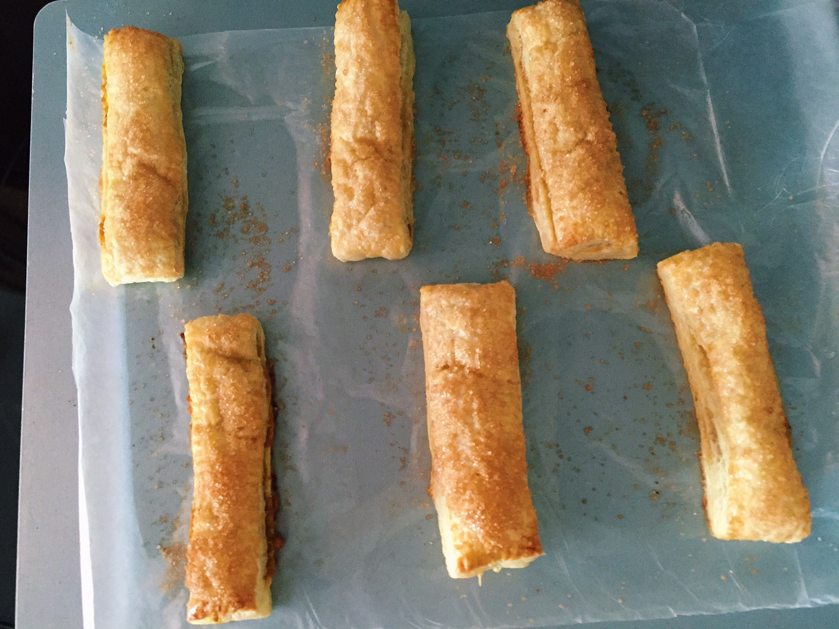 Puffy Pumpkin pastry sticks
