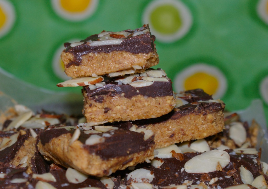 Chocolate Covered Almond Bars