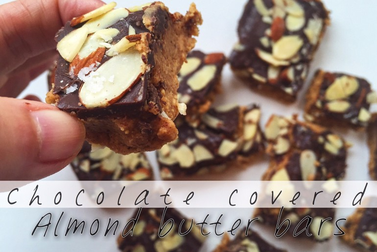 Chocolate Covered Almond Butter bars