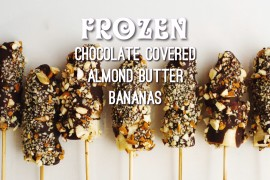 Frozen Chocolate Covered Almond Butter Bananas