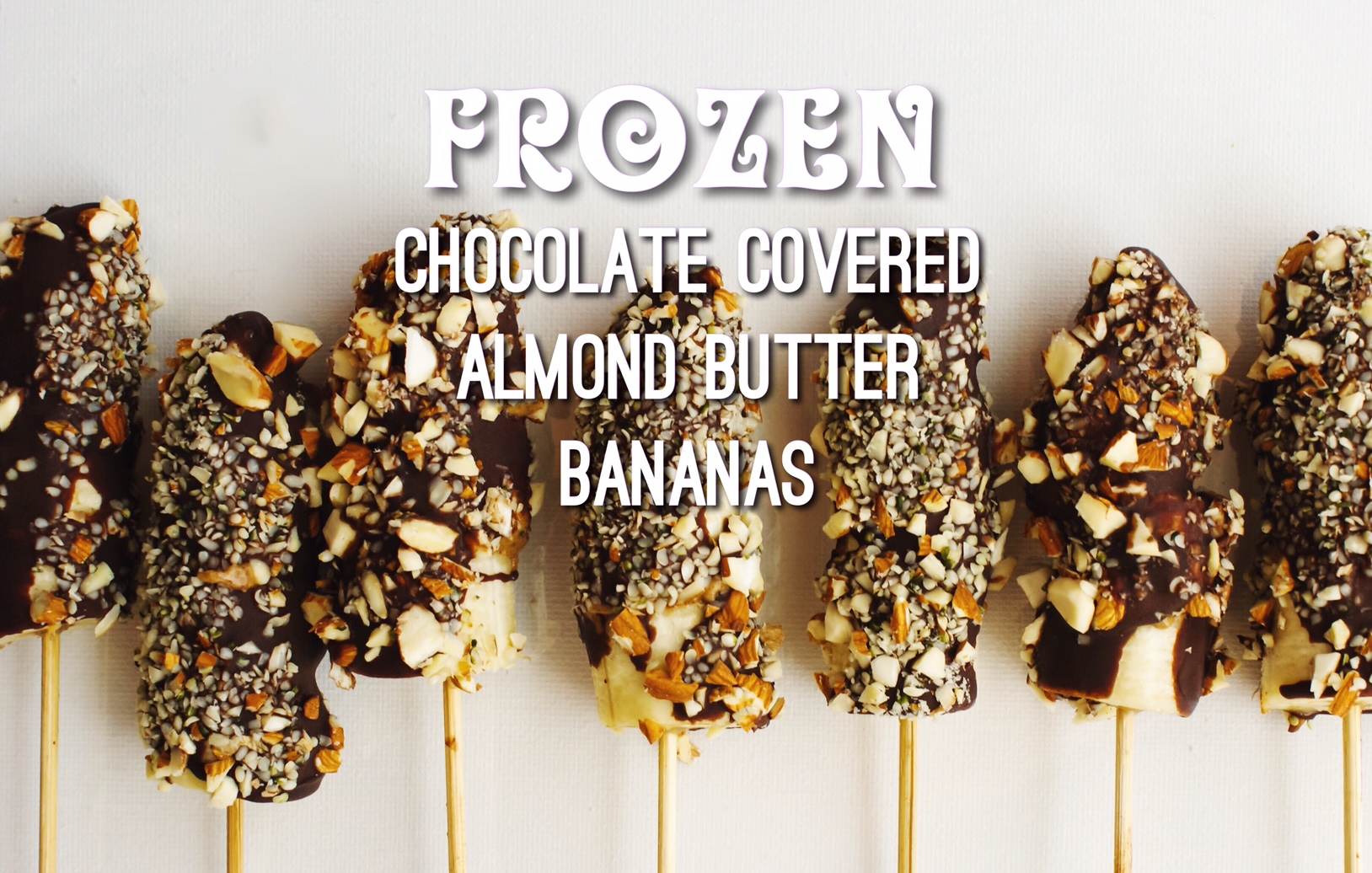 Frozen Chocolate Covered Almond Butter Bananas | Kick and Dinner