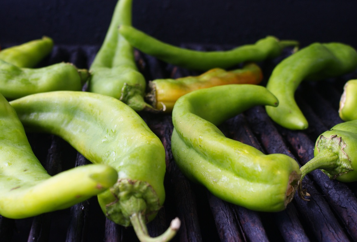 Roasting Green Chile