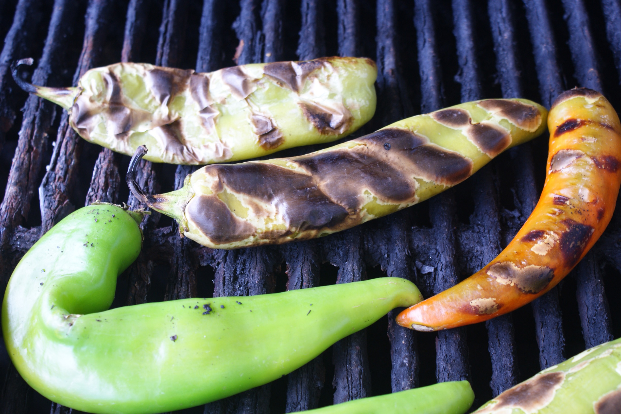 Perfectly Roasted Green Chile
