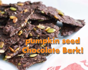 Pumpkin Seed Chocolate Bark