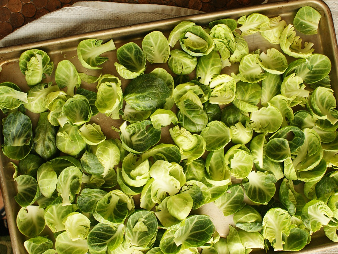 Naked brussels sprouts