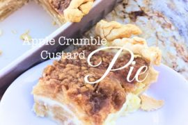 Apple Crumble Custard Pie