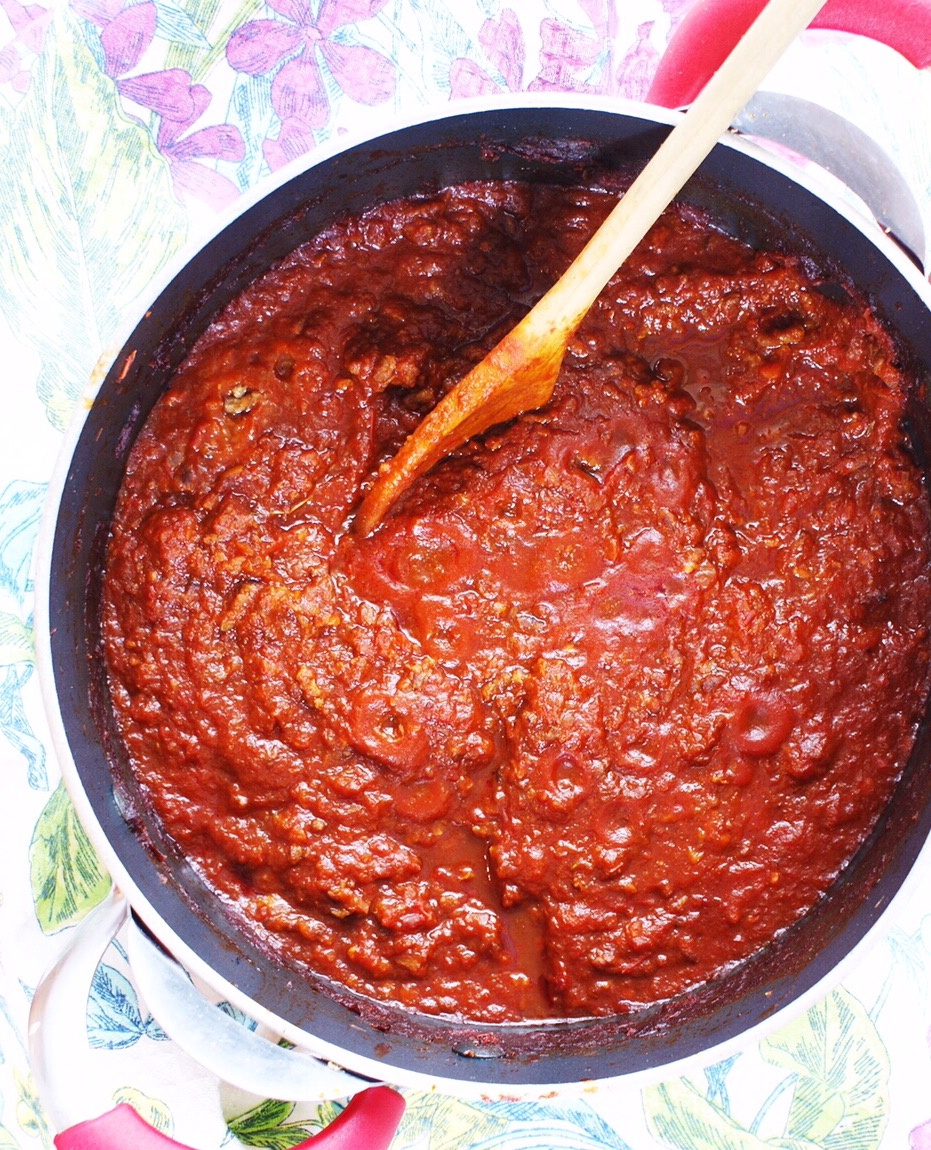 Sweet and Spicy Sausage Ragu