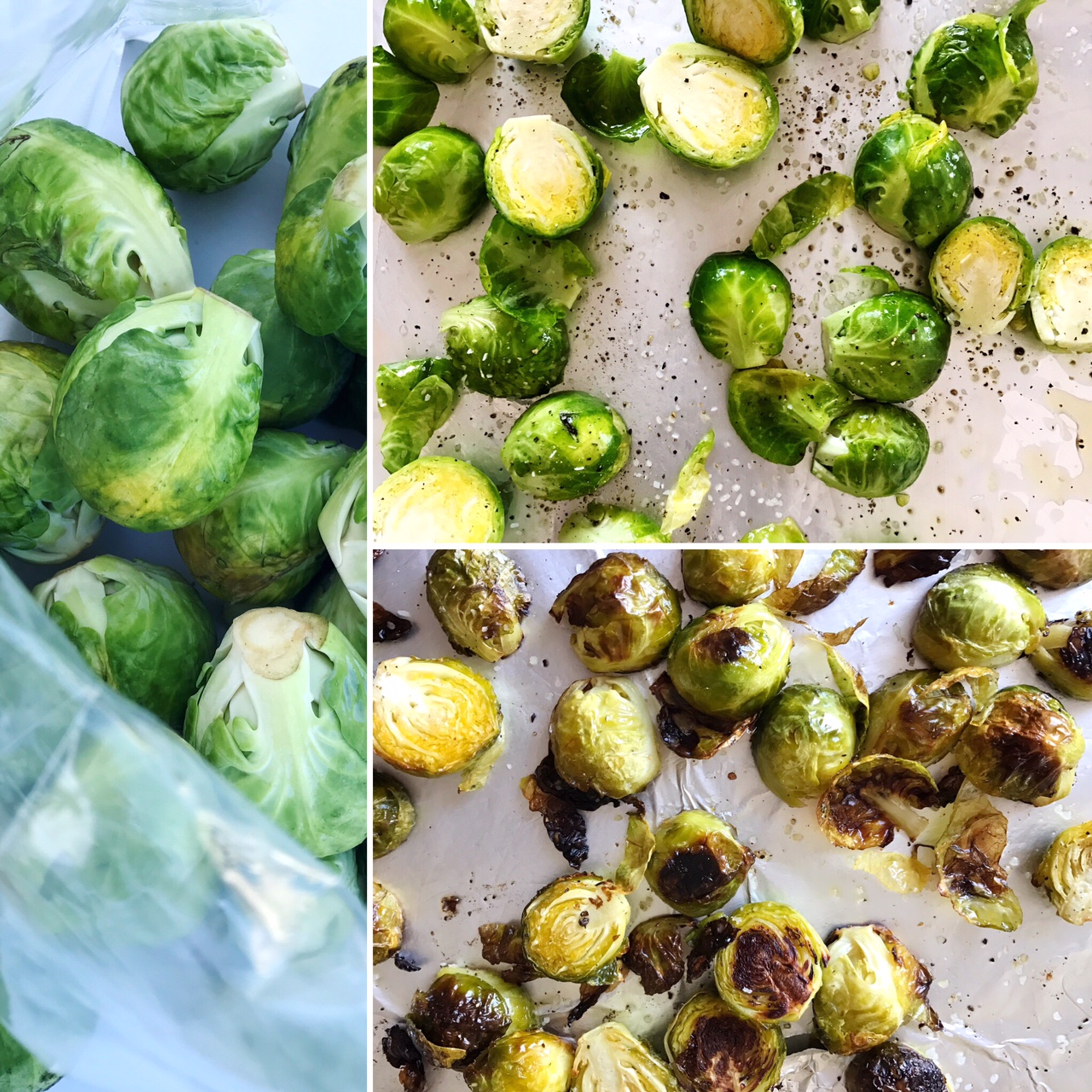 Roasted Brussels Sprouts & Baby Greens Salad
