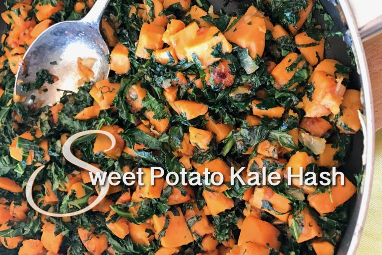 Sweet Potato Kale hash