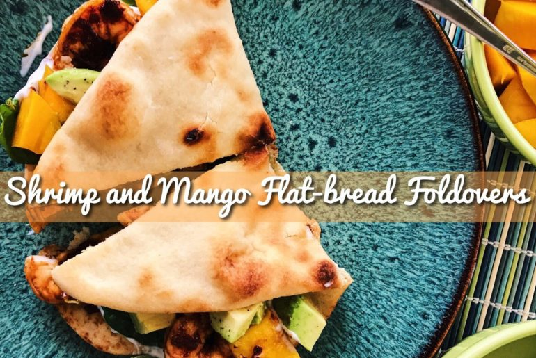 Shrimp and Mango Flatbread Foldovers