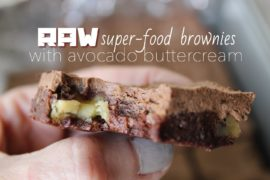 Raw Super Food Brownies with Avocado Buttercream