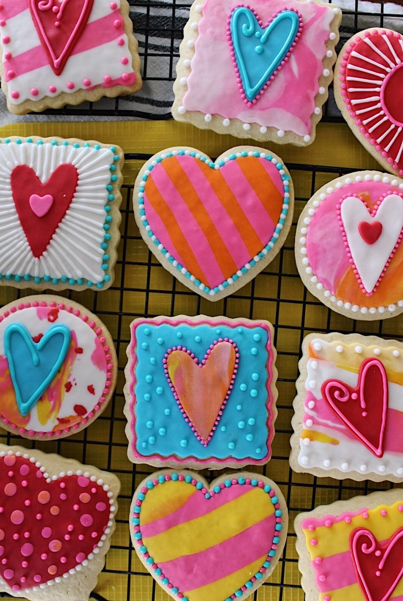 Fancy Decorated Cookies, Valentines Edition