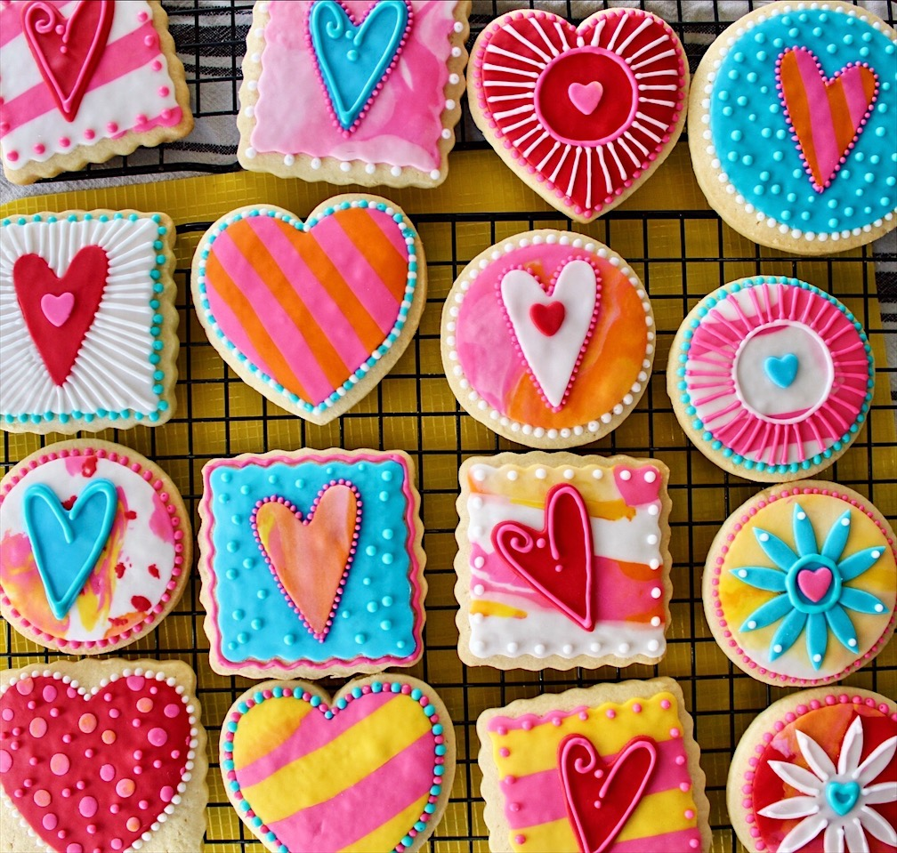 Sorta Fancy Decorated Cookies Valentines Edition